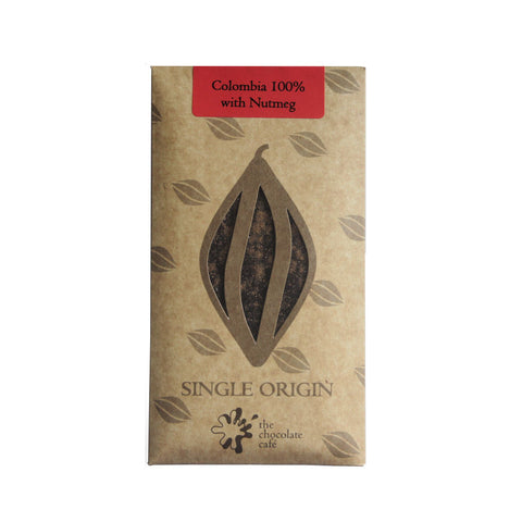 Colombia 100% Dark Chocolate with Nutmeg