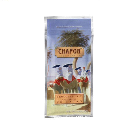 Chapon 45% Milk Chocolate with Cocoa Nibs