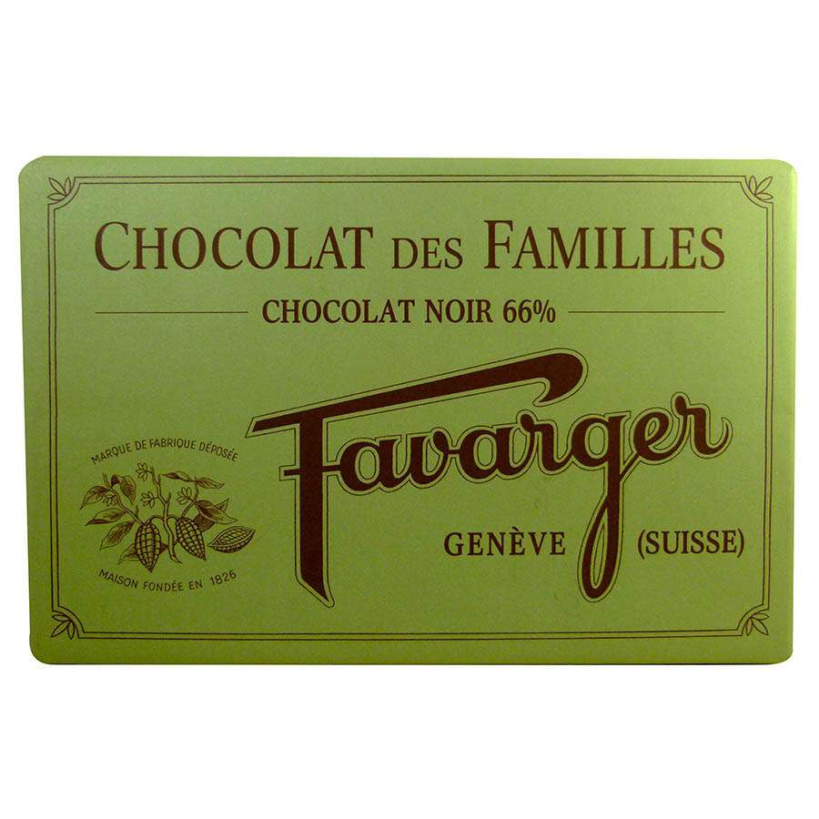 Favarger 66% Dark Chocolate Couverture 1kg Block