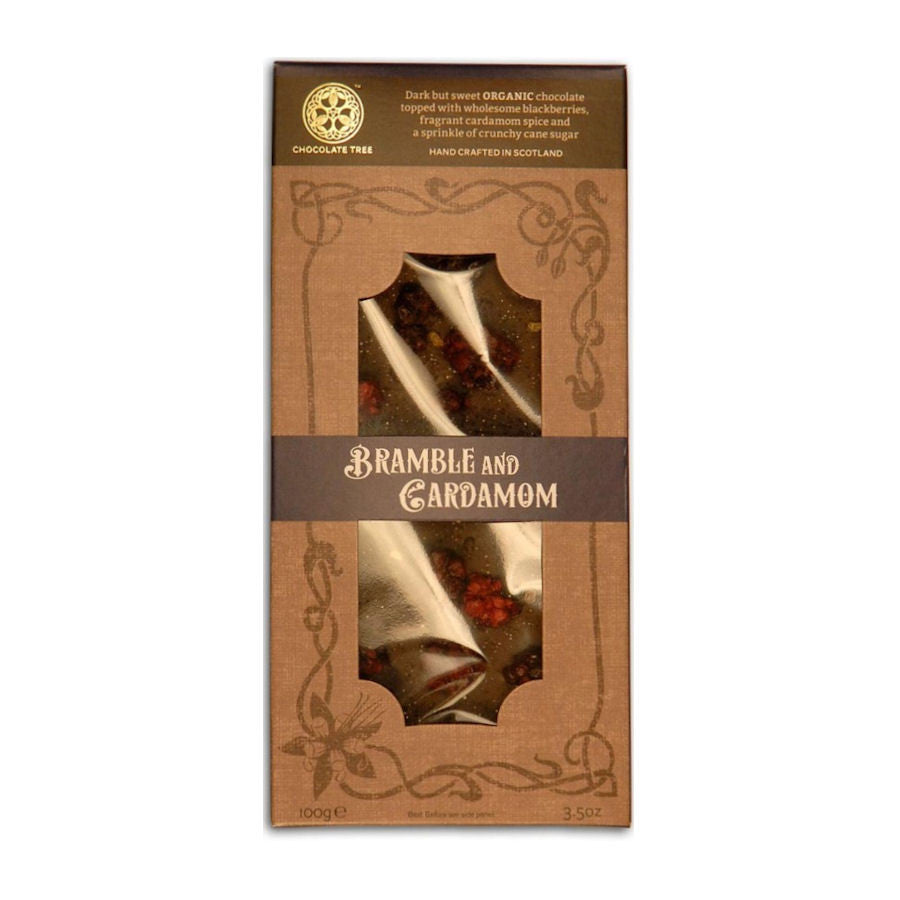 Organic Bramble & Cardamom Dark Chocolate