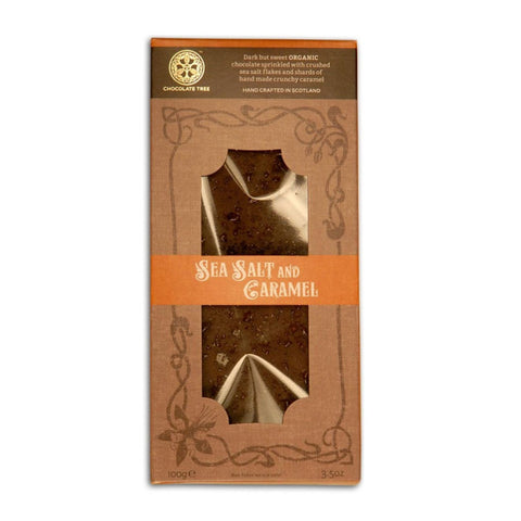 Organic Sea Salt & Caramel Sweet Dark Chocolate