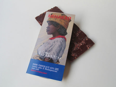 Menakao 63% Dark Chocolate With Cocoa Nibs & Madagascan Sea Salt