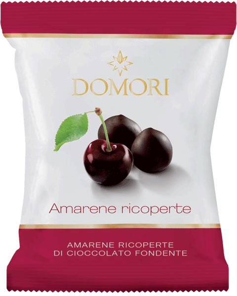 Domori Amarene Cherries Covered in Dark Chocolate