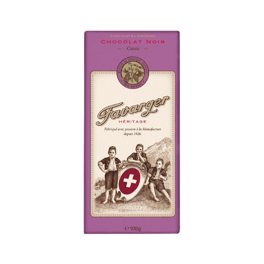 Favarger Cassis Dark Chocolate