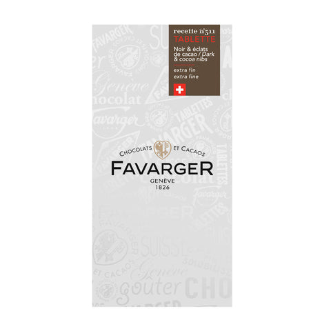 Favarger 71% Milkd Dark Chocolate With Cocoa Nibs