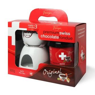 Favarger Fondue Set with Dark Chocolate