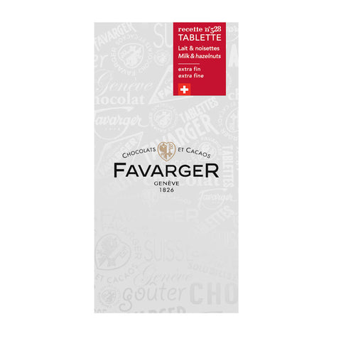 Favarger Swiss Milk Chocolate with Hazelnuts