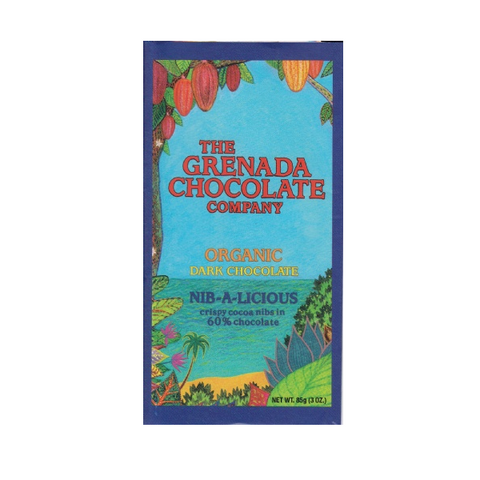 Grenada Chocolate Co. Organic Dark 60% Nib-a-licious