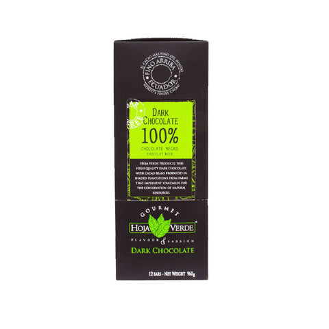 Hoja Verde 100% Dark Chocolate