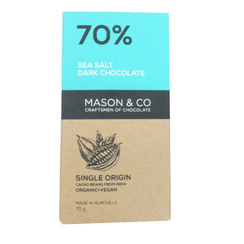 Mason & Co Sea Salt 70% Dark Chocolate
