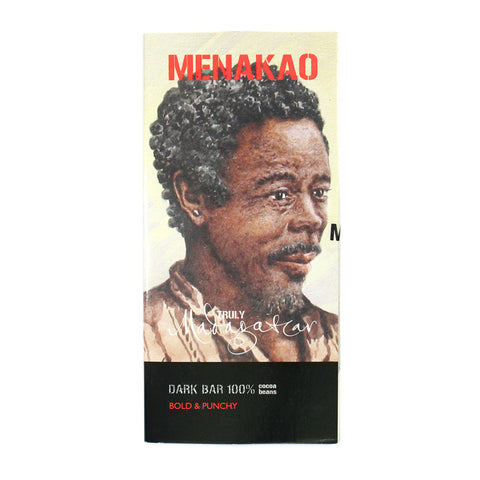 Menakao Dark Chocolate 100% (Taster Bar) (CARTON24)