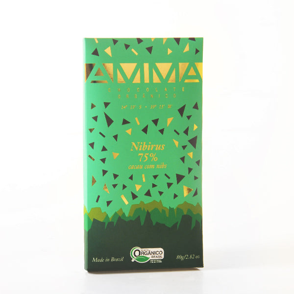 Amma - 75% Dark Chocolate with Cocoa Nibs