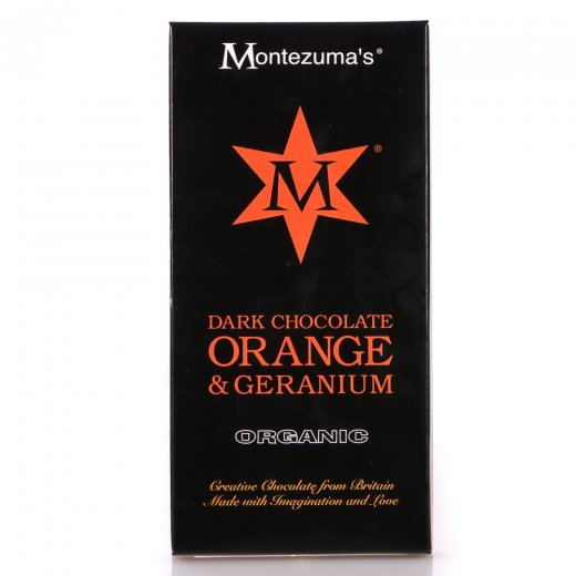 Organic Dark Chocolate Orange & Geranium Bar