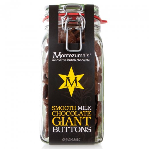 Organic Milk Chocolate Giant Button Jar