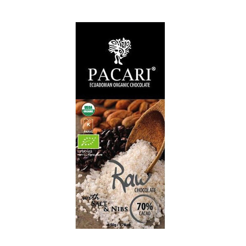 Pacari 70% Raw Chocolate With Salt & Nibs