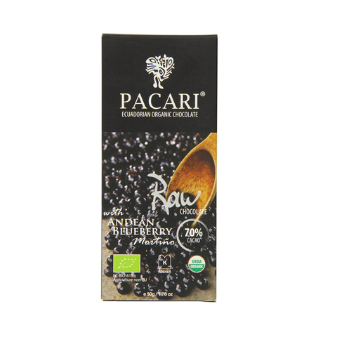 Pacari 70% Raw Chocolate Bar with Andean Blueberry