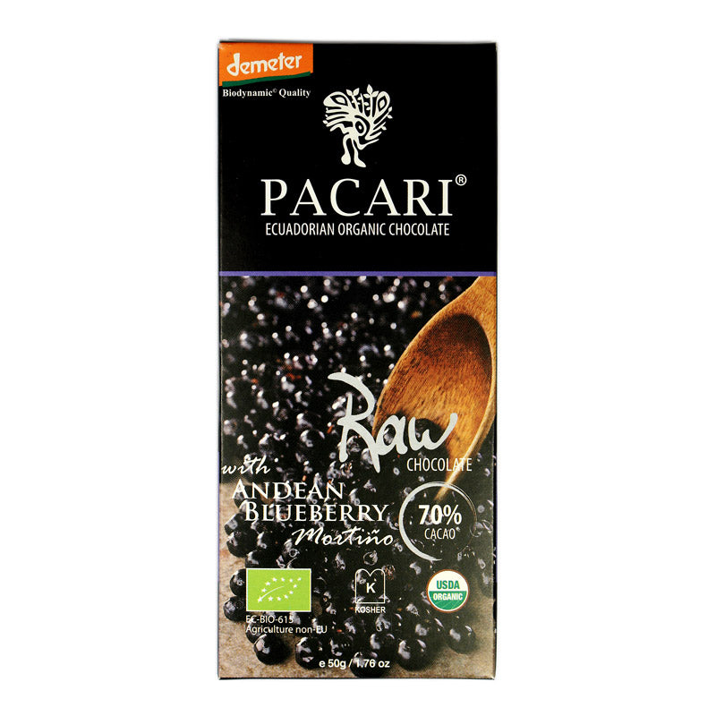 Pacari Raw (unroasted) With Andean Blueberry