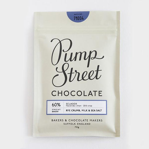 Pump Street Bakery Rye Crumb 60% Dark Milk Chocolate & Sea Salt