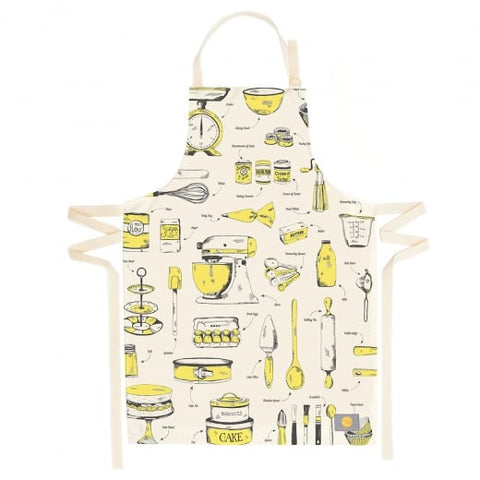 Yellow Organic Cotton Apron