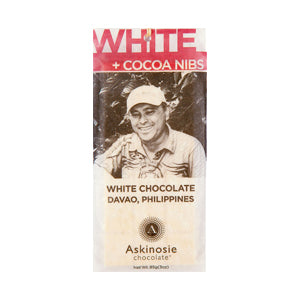 Askinosie, Luxury White Chocolate Bar With Cocoa Nibs