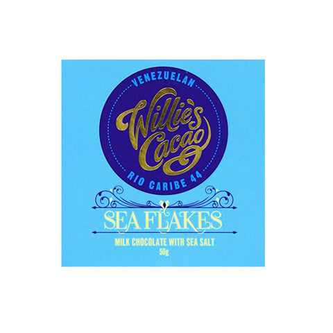 Willie's Cacao Rio Caribe Sea Flakes Milk Chocolate