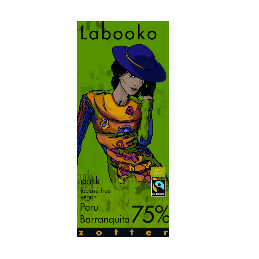 Zotter Labooko 75% Barranquita Peru Dark Chocolate