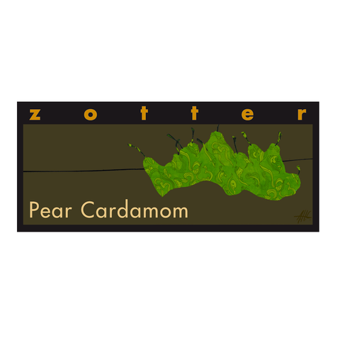 Zotter Pear & Cardamom Dark Chocolate