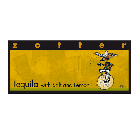 Zotter Tequila Ganache Dark Chocolate Bar
