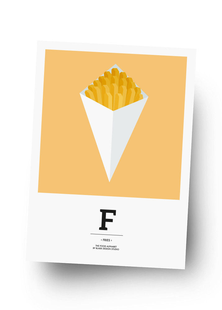 F - FRIES Postkarte