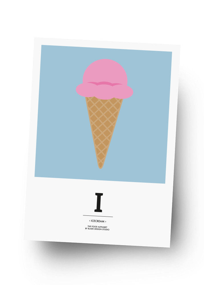 I - ICECREAM Postkarte