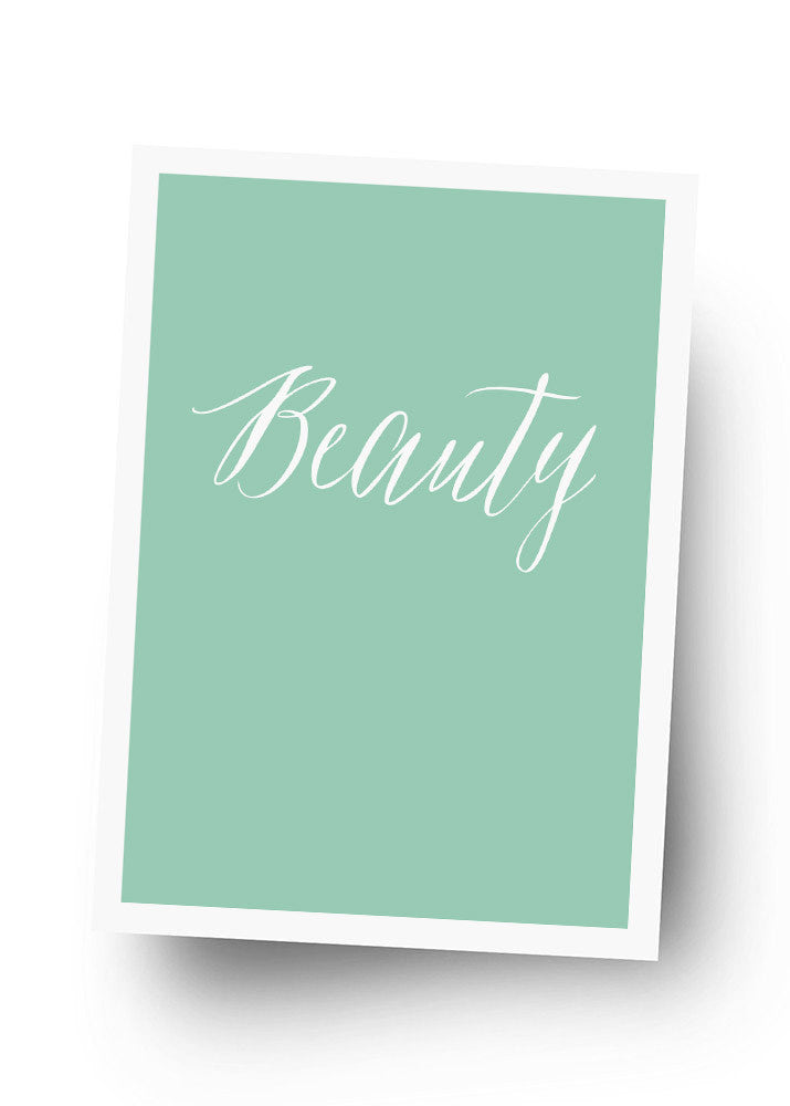 BEAUTY Postkarte