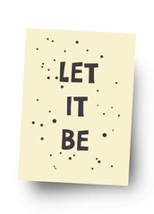 LET IT BE Postkarte