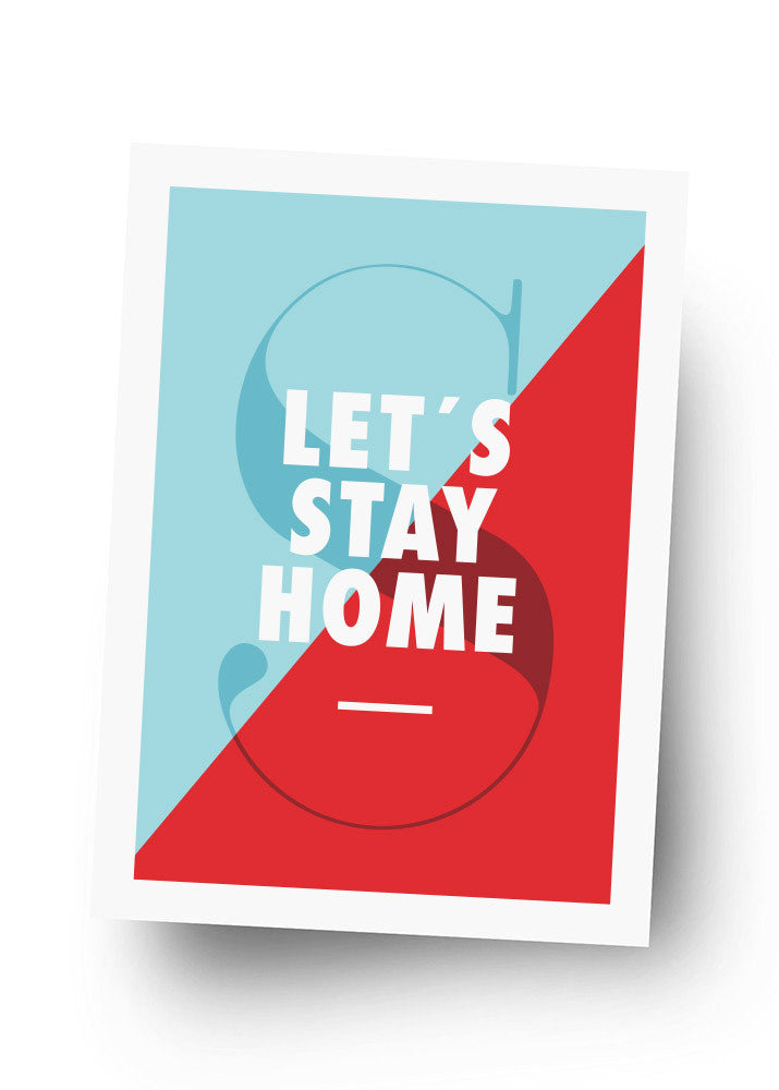 LET'S STAY HOME Postkarte