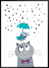 Rainy Bird and Cat