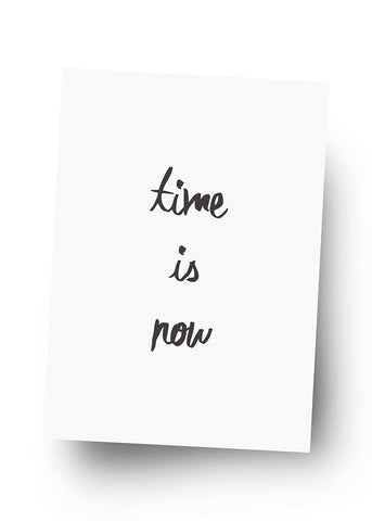 TIME IS NOW Postkarte