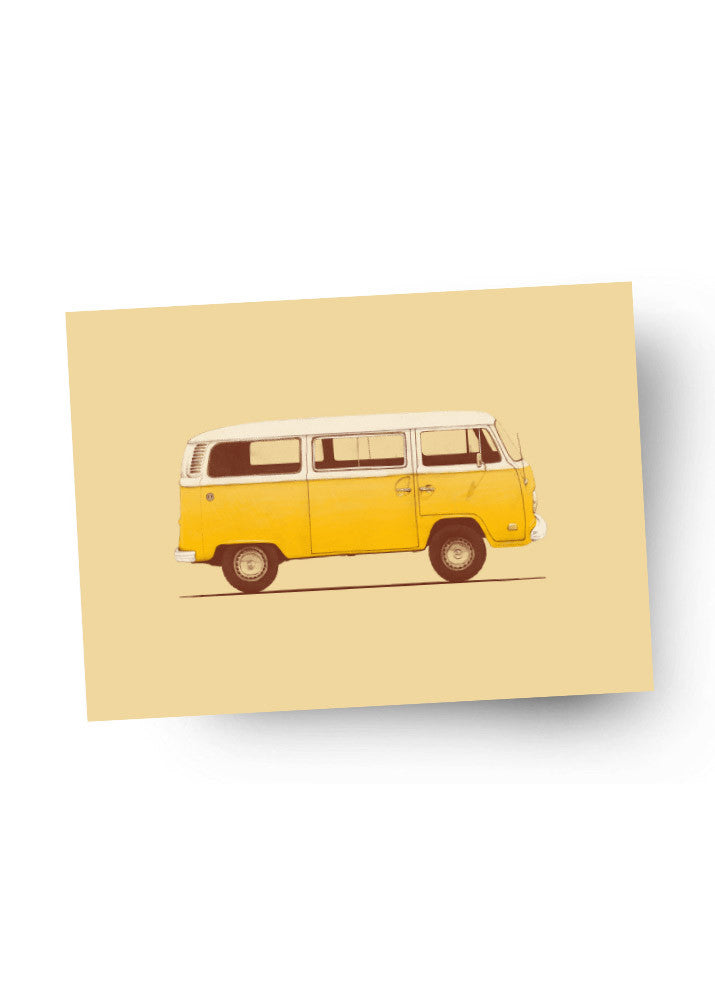 YELLOW VAN Postkarte