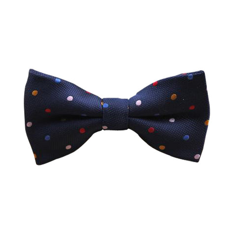 Bow Tie - Blue Multi Color Dots