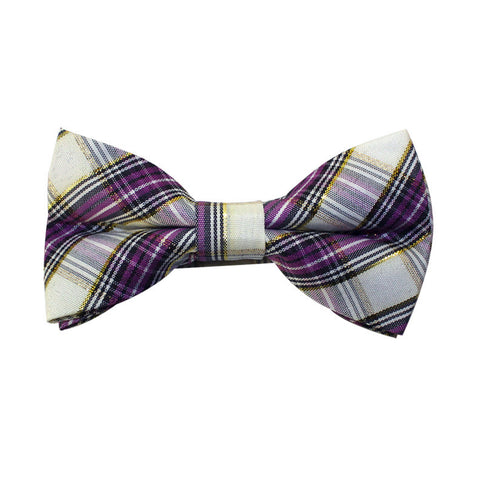 Bow Tie - Purple/Gold Plaid
