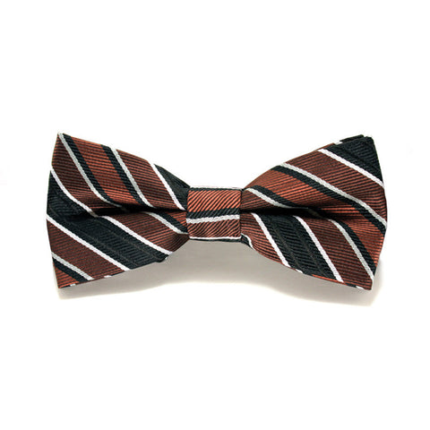 Bow Tie - Brown Stripe