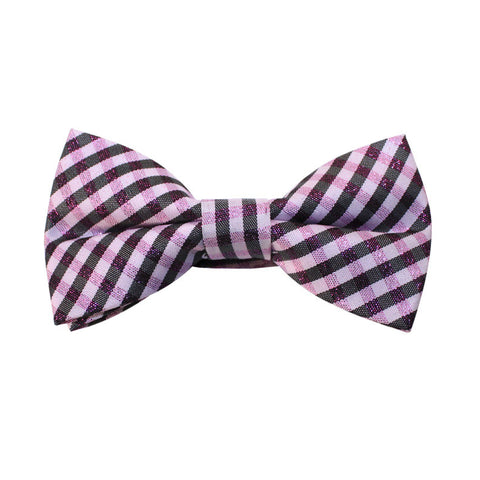 Bow Tie - Pink/Black Plaid