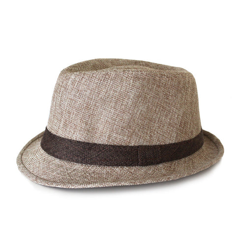Canvas Fedora - Tan