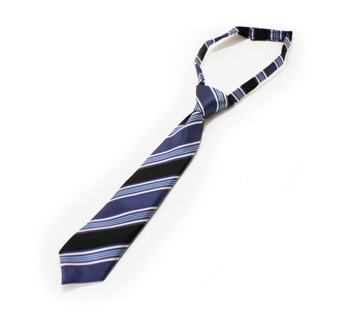 Necktie - Blue and Black Stripe