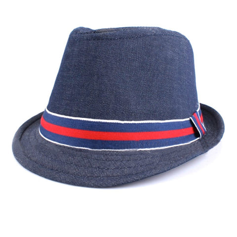 Denim Fedora - Dark Blue