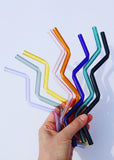 SALE - Glass Zig Zag Straws