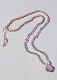 Crystal Ball Mala Necklace - Rose Quartz