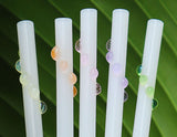 Glass Dot Wrap Straws - White & Pastel