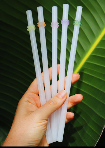 Glass Cluster Straws - White & Pastel