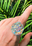 Aura Flower Ring - Size 8.75