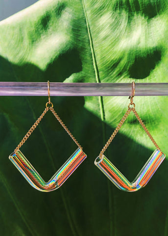 Aura V Earrings