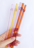 SALE - Glass Dot Straws